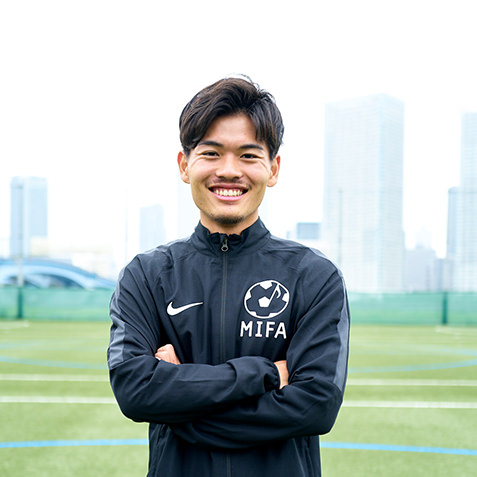 MIFAサッカースクールコーチ 山中 登士郎(やまなか としろう)